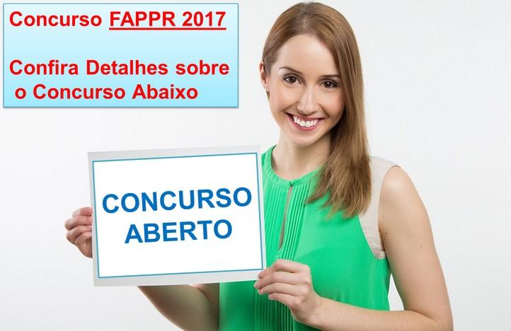concurso fappr aberto em 2017