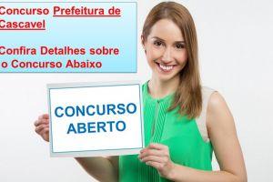 Prefeitura de Cascavel Concurso 2017