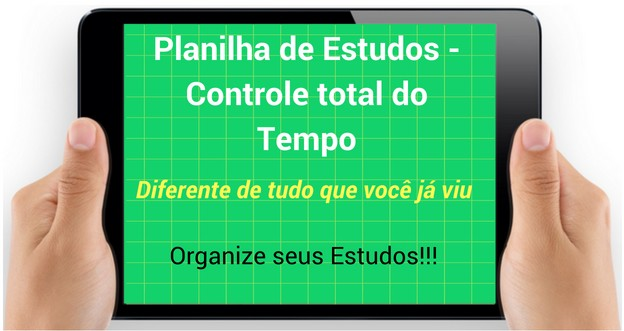 planilha de estudos excel download