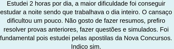 relato da Márcia Rodrigues