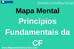 mapa mental dos princípios fundamentos da cf 1988