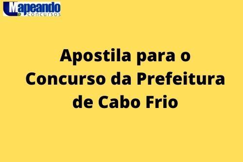 apostila para o concurso da prefeitura de cabo frio RJ